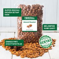 almond roasted 1 kg / almond panggang utuh / kacang almond