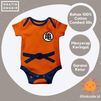 Romper jumper baju bayi 0 6 bulan cewek cowok son goku dragon ball