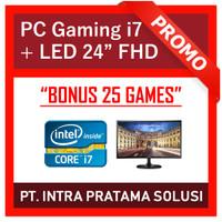 PC Gaming Lengkap i7 + Nvidia + LED 24 (Siap Pakai + Bonus Games)
