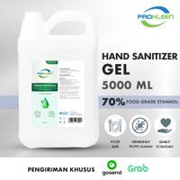 Hand Sanitizer GEL 70% FOOD GRADE Antiseptik PROKLEEN 5L GOSEND/GRAB