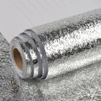 Wallpaper Aluminium Foil Anti Minyak Waterproof Sticker 100x60cm Kerut