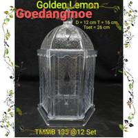 Toples kacang kubah Toples kue plastik arkilik TMMB-135 Golden sunkist
