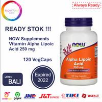 NOW Vitamin - Alpha Lipoic Acid 250 mg - 120 Vcaps