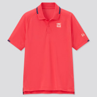 Baju Tenis Uniqlo Roger Federer Red Tennis Polo Shirt Limited Edition