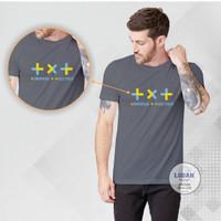 TXT K-POP - Kaos Distro Premium Pria / Kaos Distro Pria Wanita - Abu-abu, S