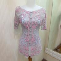 kebaya modern silver pink