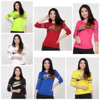 Baju Atasan Nike Lengan Panjang Senam Zumba Aerobic Olahraga Import