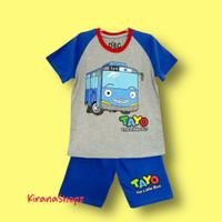 Baju Setelan Anak Tayo The Little Bus