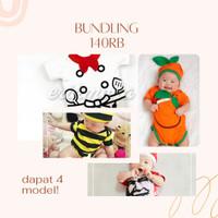 bundling 140k 4 item jumper bayi koki lebah kfc jeruk