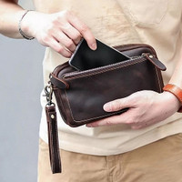 Handbag Kulit Asli Pria Wanita / Tas Tangan Clutch Bag Kulit Original