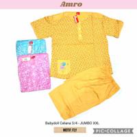 Babydoll amro jumbo xxl celana 3/4 pendek anne claire big size piyama