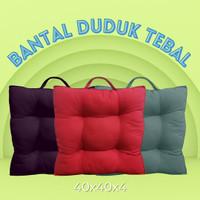 Bantal Duduk Tebal/alas kursi bantalan tebal/kursi bantal lesehan - Abu-abu, Medium