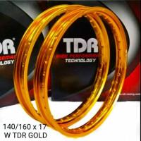 Velg TDR W Kotak 140 160 Ring 17 Gold ORIGINAL not tk excel rossi - 14