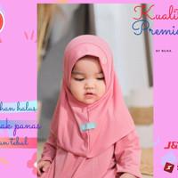 Baju gamis anak perempuan Gamiset daily Nuha Candy Rose L 3 tahun