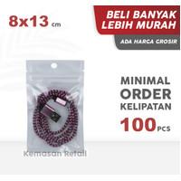 Sachet Transmetz White Zipper 8x13 cm