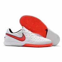 Sepatu Futsal Nike Tiempo Legend 8 Academy White Flash Crimson
