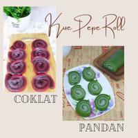 Kue lapis sagu Pandan Gulung / Kue Pepe / Kue Basah Tradisional