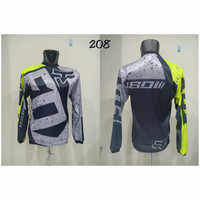 Baju JERSEY 208 Kaos Balap Sepeda Motor Trail Downhill Trek Bike MTB