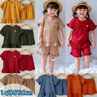 Baju Anak Perempuan Pakaian Stelan Setelan Anak Cewek 1 2 3 4 5 Tahun