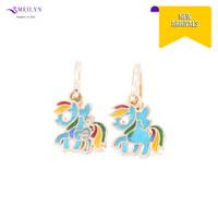 Meilyn Anting Jurai Gold Motif Kuda Poni Hijau Cat Emas 0271170388