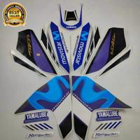 Striping stiker vixion 150 r 2014 movistar putih list body standar