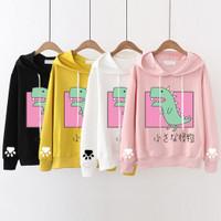 sweater dinosaurus wanita anak remaja dewasa hoodie hoody baju outer