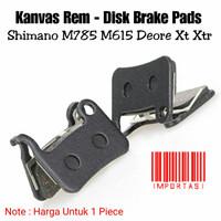 Brake Pad Kanvas Rem Cakram Sepeda Shimano M785 M615 Deore Xt Xtr