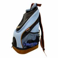 Ibiyaya New Denim Lightweight Pet Backpack Tas Dog Cat murah Fc2131