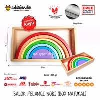 Balok Pelangi Warna Nobi Mainan Belajar Edukasi Anak PAUD TK APE Kayu