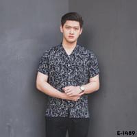 Kemeja pria printing Kemeja motif abstrak Baju Pantai Floral Cowok
