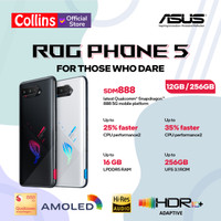 ASUS ROG PHONE 5 12G/256GB SNAPDRAGON 888 GARANSI RESMI ASUS INDONESIA - Phantom Black