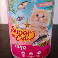 SUPERCAT BABY KITTEN MAKANAN KUCING KALENG RASA TUNA 400 GR