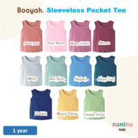BOOYAH - Sleeveless Pocket Tee 1 year (baju anak tanpa lengan/singlet)
