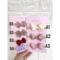 Bandana bayi bando bayi minibow baby headband nylon newborn headband - Type A