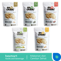 Oh Ma Grain! Popped Rice Crackers Snack Beras Cemilan Diet Sehat