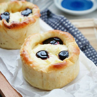 Paket 3 Roti Blueberry Cream Cheese Bun