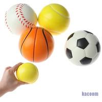 Mainan Squishy Bentuk Bola Basket Sepak Bahan Busa Isi 4pcs