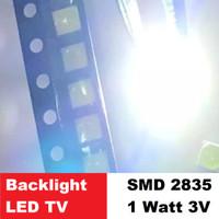 SMD Chip 2835 1W 1 Watt Cool Cold White Putih LED TV Backlight 1Watt