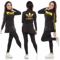 Setelan Baju dan Rok Celana Senam Zumba Aerobic Import Panjang