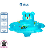 DOCTOR DOLPHIN Seat Swim Ring Pelampung Duduk Anak - All Size Biru