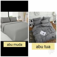 Bed Cover Set Sprei Hotel Katun Premium Ukuran 90x200 Tinggi 30
