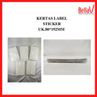 Kertas Thermal Sticker Label 80mm 1 Roll