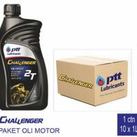 [Paket 1Dus] Oli Samping 2Tak PTT Challenger SEMI Synthetic 1 Liter