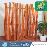 Penyekat ruangan kayu | wood divider | partisi | sketsel