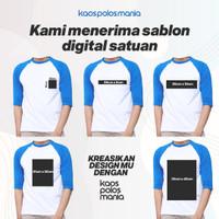 Sablon Custom Satuan Bebas Desain Kaos Raglan KPM Apparel
