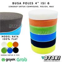"Busa Poles 4"" inch Rata Flat Sponge Polishing Pad Set Paint Correction"