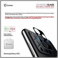 Samsung A52 - Copper Tempered Glass Kamera Full Black