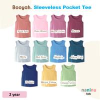 BOOYAH Sleeveless Pocket Tee 2 year (baju anak tanpa lengan/singlet)