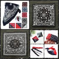 Bandana motif Paisley Scarf Wrist/Neck Band Headwrap