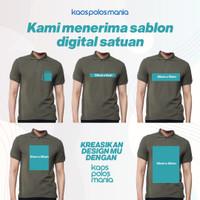 Sablon Custom Satuan Bebas Desain Polo Shirt KPM Apparel